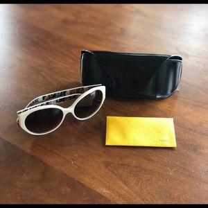 White Oval Fendi Sunglasses